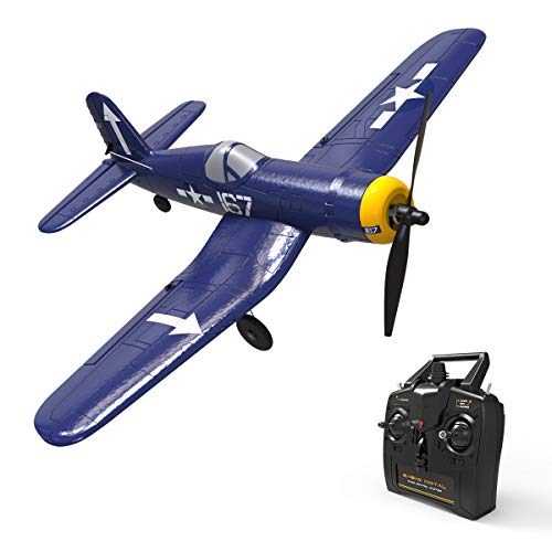 VOLANTEXRC RC Airplane F4U Corsair 2.4Ghz 4-CH with Aileron Parkflyer Remote Control Aircraft Plane Ready to Fly with Xpilot Stabilization System, One-Key Aerobatic Perfect for Beginner (761-8 RTF)