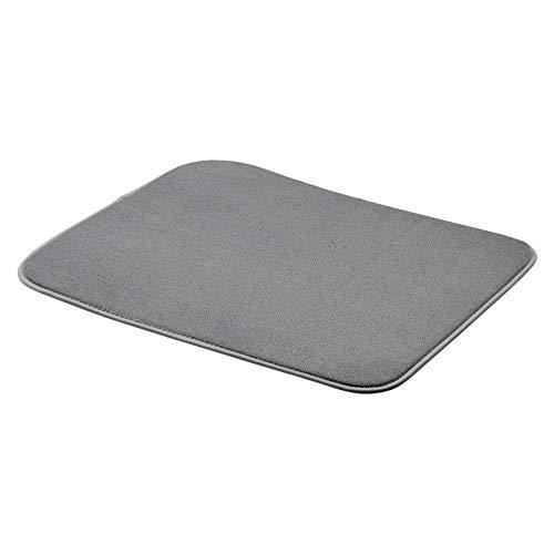 AmazonBasics - Esterilla de secado, 40,6 x 47,7 cm, color carbón, 4 unidades