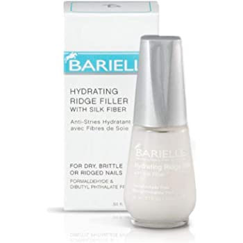 Barielle Hydrating Ridge Filler, With Silk Protein Fibers, Fill and Smooth Unsightly Nail Ridges, For Dry, Brittle or Ridged Nails, Enhances Nail Growth and Strengthening, Base Coat 0.5 Ounce