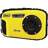 COLEMAN C9WP-Y 20.0-メガピクセル Xtreme3 HD ビデオ 防水 デジタルカメラ (イエロー)