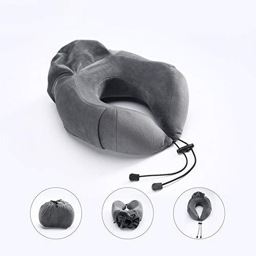WOkismx Espuma De Memoria Protectora del Cuello del Coche De La Oficina De Viajes Puede Almacenar La Almohada En Forma De U Almohada De Cama para