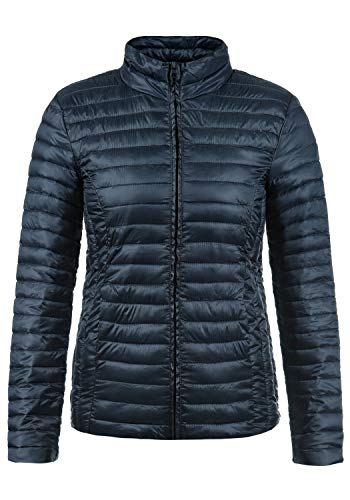 JACQUELINE de YONG Britta Damen Übergangsjacke Steppjacke leichte Jacke gefüttert mit Stehkragen, Größe:M, Farbe:Sky Captain