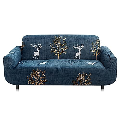 Fundas elásticas Funda de sofá para Sala de Estar Toalla de sofá Funda de sofá Antideslizante para Mascotas Juego de Fundas de sofá Strench A14 4 plazas