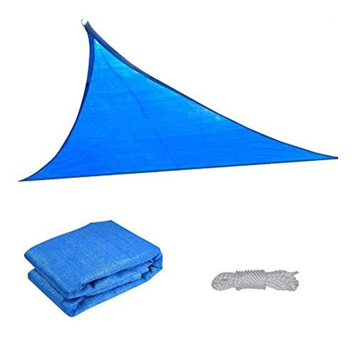 Toldo Vela de Sombra para Patio, Impermeable a Prueba de Viento Toldo de Refugio Canopy Vela protección UV para Exteriores Jardín Terraza (Color : Blue, Size : 3.4x3.4x3.4m)