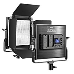 DIMMABLE BRIGHTNESS AND 2 COLOR TEMPERATURE: With 330 White and 330 Yellow LED long lasting bulbs, this light illuminates a variable white balance from Tungsten-Daylight from 3200 to 5600K; 2 separate knobs on the panel back for adjusting color tempe...