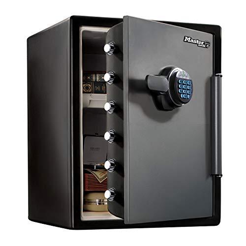 Master Lock Caja Fuerte de Seguridad [Ignifuga y Resistente al Agua] [Combinación Digital] [XX large] -LFW205FYC, Negro, Gris, XX-Large