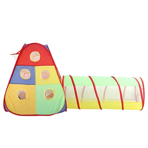 Tents Tienda de campaña para niños pequeños, túnel para gatear, piscina con varios agujeros de bola, cestas, tienda de campaña para niños (tamaño: 172 x 86 cm)