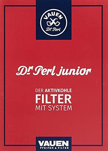 Dr. Perl Filter Junior Aktivkohlefilter groß-9 mm-Ju-Max 4 x 180er, Kohlenstoff, Rot, 10 x 8 x 5 cm