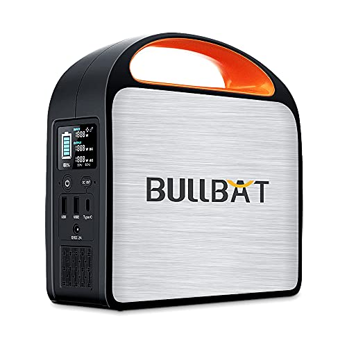 BULLBAT Portable Power Station Pioneer 250, 257Wh/69600mAh Backup Lithium Battery, 110V/250W Pure Sine Wave AC Outlet, Multiple DC Ports, Solar Generator(Solar Panel Not Included) with for Outdoors Camping, Travel, Hunting, Home Emergency