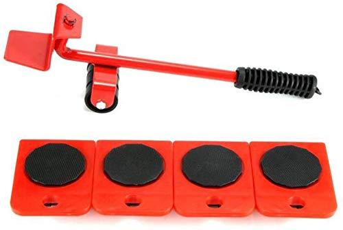 TXOZ-Q Herramienta de Transporte 5pcs Motores de los Muebles Lifter, máximo Arriba de 150kg / LB 330, 360 Grados giratoria de ratón, Perfecto for Armario/Lavadora/Secadora/Sofá