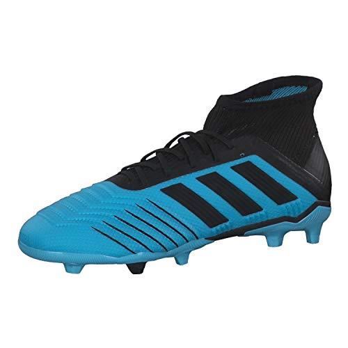 adidas Predator 19.1 Fg, Scarpe da Calcio Bambino, Turchese (Bright Cyan/Core Black/Solar Yellow 0), 36 EU
