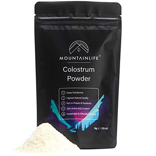 Mountainlife Colostrum Powder 500g | 30% Active IGG Content | Grass Fed Bovine | Protein & Nutrient Rich | Highest Natural Quality | Growth Supplement Powder | Supports Immune System & Gut Health