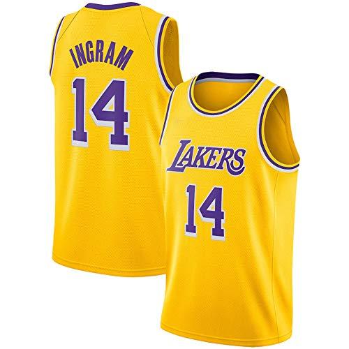 WSWZ Camiseta De Baloncesto De La NBA - Camisetas NBA Lakers 14# Brandon Ingram para Hombre - Unisex Cómodo Camiseta Sin Mangas Deportiva De Baloncesto,A,XXL(185~190CM/95~110KG)