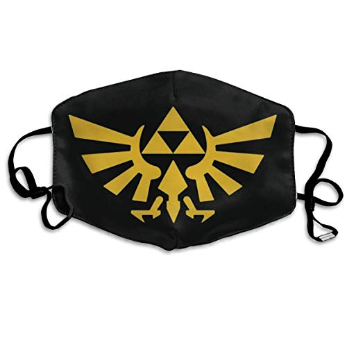 Unisex Protection Nose Mouth Anti Dust The Legend of Zelda Tri Force Heroes Logo Adjustable Facial Decorations-one_color-