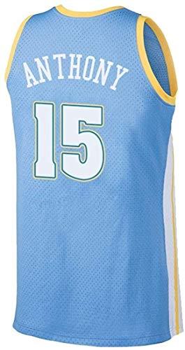 ATI-HSKJ NBA Jerseys, Denver Nuggets, Carmelo Anthony # 15 Jerseys Respirable Fresco Tela Alero del Chaleco Sin Mangas sobre El Tema,C,M(170~175cm/65~75kg)