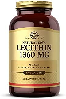 Solgar Lecithin 1360mg, 100 Softgels - Supports Overall Health - Natural SOYA Lecithin - Source of Choline & Essential Fat...