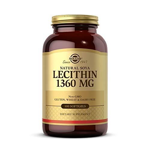 Solgar Lecitina de Soja 1360 mg Cápsulas blandas - Envase de 100