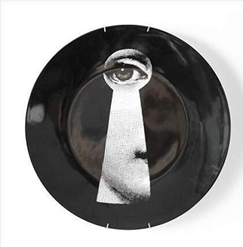 Willower Moda Milán Platos para Colgar En La Pared Sala De Muestras/Hogar/Hotel/Bar Art Style Decoración De Fondo -18 Años_8 Pulgadas