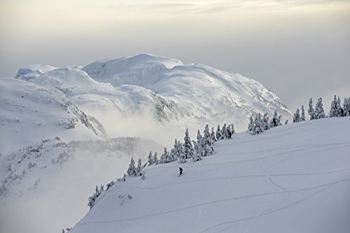 Chris Miller/Design Pics – Snowboarders and Skiers Enjoy The Freshly Snow Covered East-Side of The Eaglecrest Ski Area In Juneau Alaska Photo Print (86,36 x 55,88 cm)