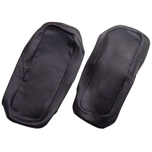 Dasen Saddlebag Speaker Lid Bra Protective Covers PU Leather Compatible with 1993-2013 Harley Touring Road King Electra Road Street Glide