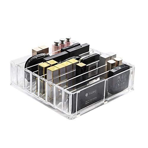 SHIJIAN Makeup Organizer Antike Arbeitsplatte Kosmetische Aufbewahrungsbox Glas Beauty Display for Pinsel Lippenstifte Hautpflege Toner