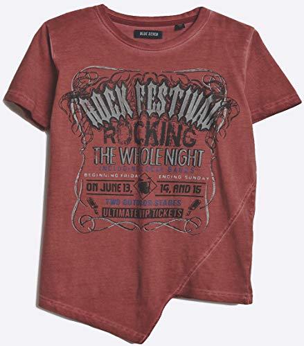 Blue Seven Jungen T - Shirt Rock Festival 602563 (176, Rosybrown)