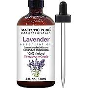 Majestic Pure Lavender Oil, Natural, Therapeutic Grade, Premium Quality Blend of Lavender Essential Oil