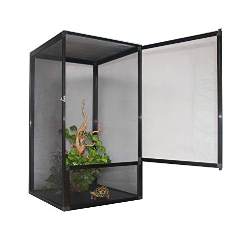 Leoterra Chameleon Vertical Screen Cage Screen Habitat Large Size L20 xW20 xH40 All Mesh Terrarium Send from CA (USA) Directly