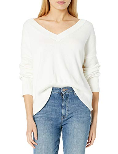 The Drop The Drop Women's Lisa Soft Slouchy V Neck Sweater, Ivory, 3X, Plus Size from Amazon | Daily Mail