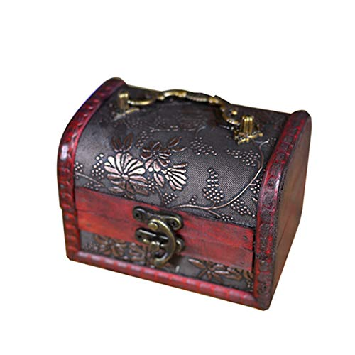 Caja De Joyería De Madera Cofre, Madera Vintage Pearl Collar Pulsera Titular De Regalo Organizador Clastico Hecho A Mano Retro Europeo Caja De Madera Memoria Antigua