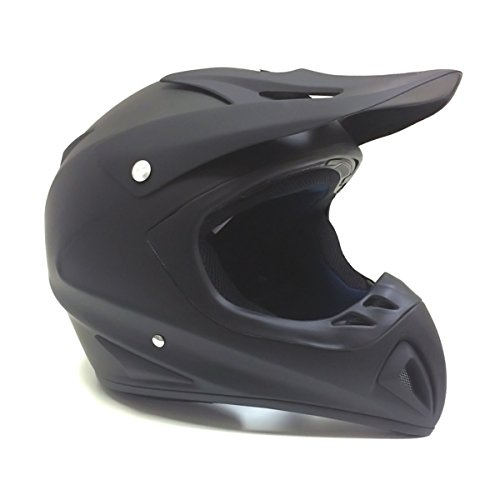 MMG Adult Motorcycle Off Road Helmet DOT, MX ATV Dirt Bike Motocross UTV, Large, Matte Black, Includes Goggles