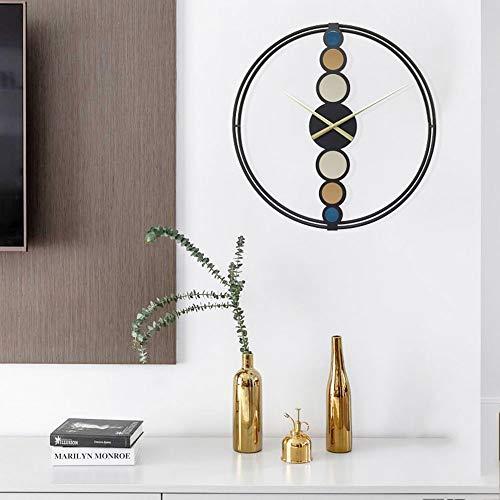 DKee Reloj de Pared Dormitorio De Hierro Forjado Reloj De Pared De La Sala De Forma Creativa Cenar Simple Reloj De Los Relojes De Tiempo Precisos De Silencio (60 * 60 Cm)