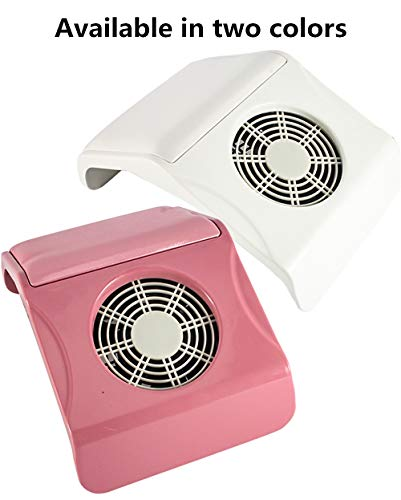 Pro Nail Stofzuiger Zuigstof Collector Elektrische Ventilator Machine Nagel Extractor Salon Manicure Pedicure Art Apparatuur met 2 Stof Verzamelen Tassen roze