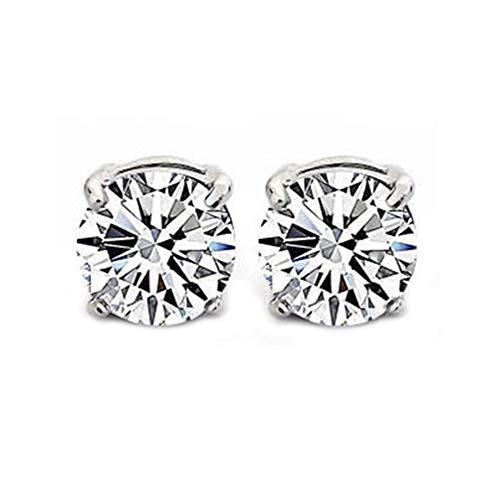 XIANGAI Elegant 1Pair Clear Crystal Magnet Earring Unisex Men's Earring