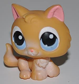 Kitten #47 (Orange, Blue Eye) - Littlest Pet Shop (Retired) Collector Toy - LPS Collectible Replacement Figure - Loose (OOP Out of Package & Print)
