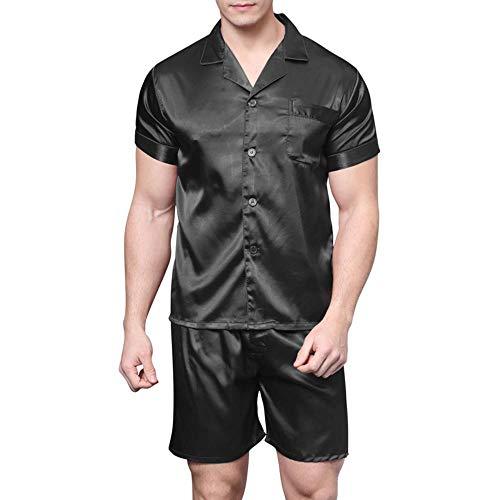 Pantalones Cortos de Pijama de Seda Satinada para Hombres