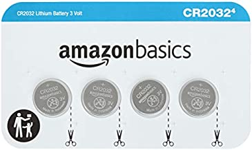Amazon Basics 4 Pack CR2032 3 Volt Lithium Coin Cell Battery
