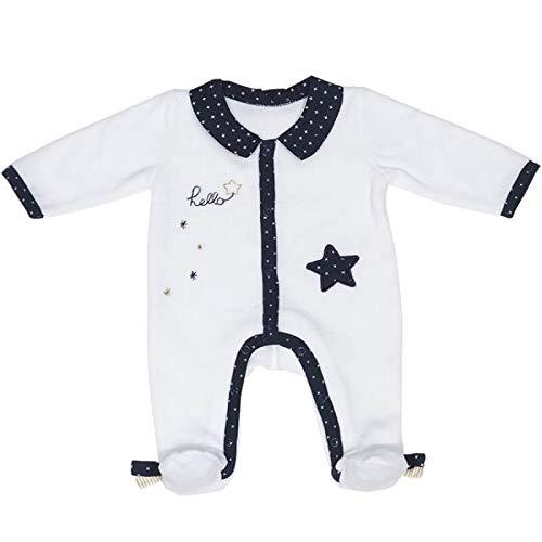 Pyjama bébé blanc étoile naissance Hello - Sauthon