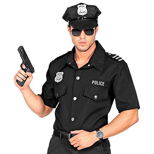 Widmann 11012962 Polizei Shirt für Erwachsene, Herren, Schwarz, L/XL