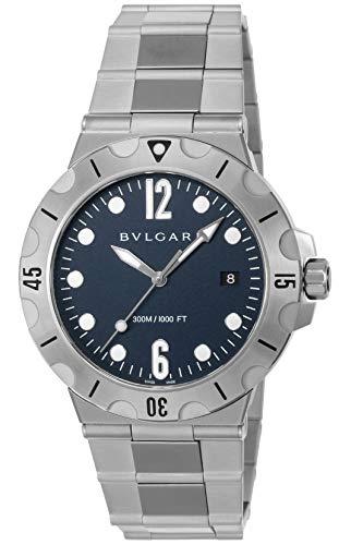 [ブルガリ] 腕時計 ディアゴノプロフェッショナル ブルー文字盤 逆回転防止ベゼル ねじ込み式リューズ DP41C3SSSD メンズ 並行輸入品 シルバー