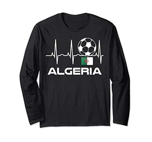 Algerien Fußball-Trikot Algerisches Fußballspieler-Geschenk Langarmshirt