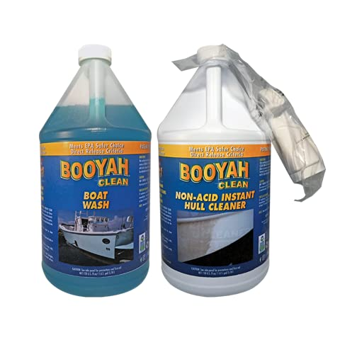 BooYah Clean Boat Cleaning Gallon Duo