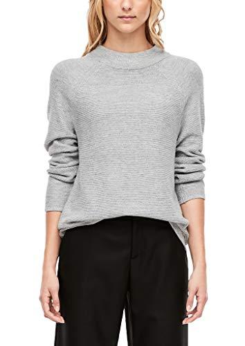 s.Oliver Damen 14.910.61.5399 Pullover, Grau (Grey Melange 9400), (Herstellergröße: 38)