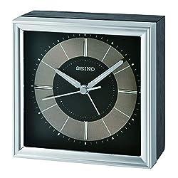 SEIKO Brady Bedside Alarm Clock, Black