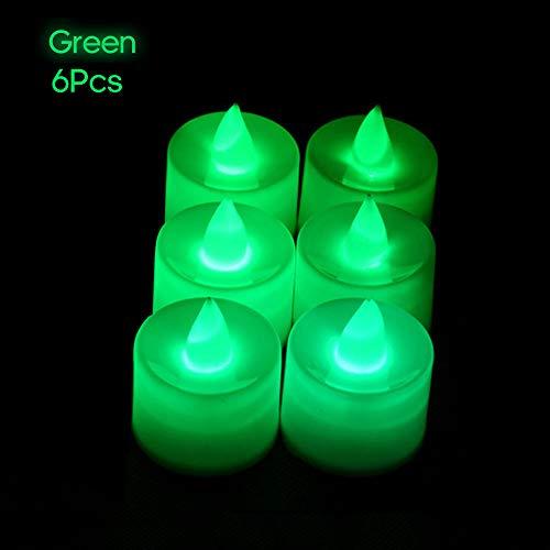 Festnight Elektrische led-kaarslamp, 6 stuks, vlamloze theelichtjes, kaarsen voor home party, verjaardag, bruiloft, festival, decoratie