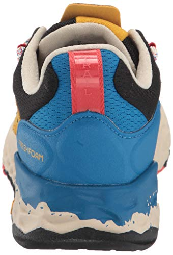 New Balance Men's Fresh Foam Hierro V5 Trail Running Shoe, Varsity Gold/NEO Classic Blue, 11.5 D US 7