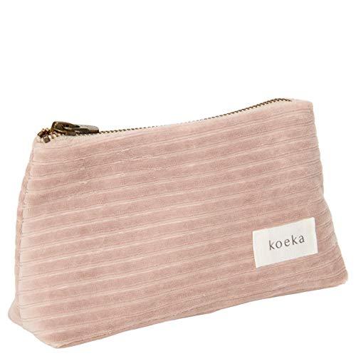 Koeka - Etui Vik - Speziell Für Mütter - Aufbewahrungsbeutel Für Kleine Kinder Gegenstände - Mit Reißverschluss - Grau Rosa - 18 X 6 X 11 Cm