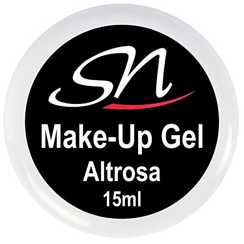 SN Aufbaugel Make Up Gel Nägel Altrosa 15ml UV und LED Camouflage Gel Gelnägel rosa deckend Nageldesign Cover Gel Babyboomer