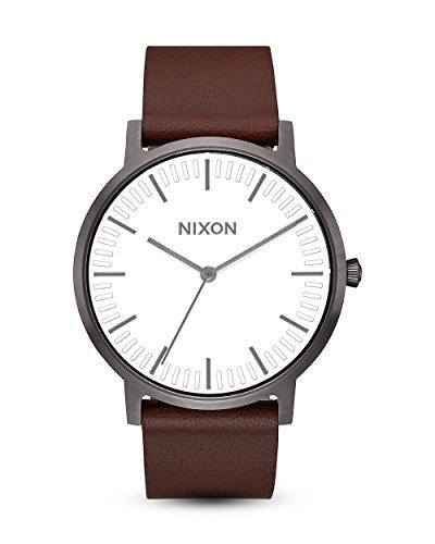 Nixon Reloj Analógico para Unisex Adultos de Digital con Correa en Cuero A1058-2368-00