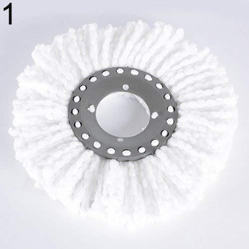 Cabeza giratoria 360 de Microfibra fácil Magic Spinning Suelo Gamuza de Resistente fregona Cabeza Talla única Blanco